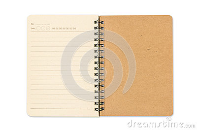 Blank open note book