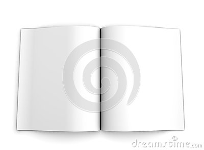 Blank opened advertising folde