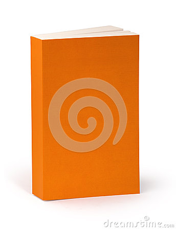 Free Blank Orange Book Cover With Clipping Path Royalty Free Stock Photos - 45454998