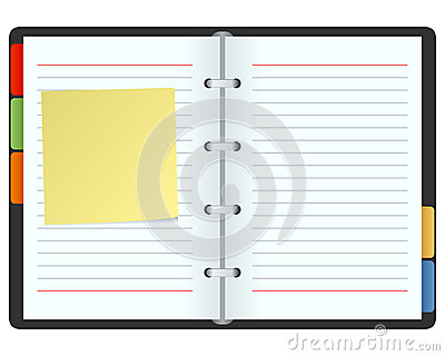 Blank Organizer with Post It