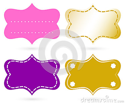 Blank ornamental tags set