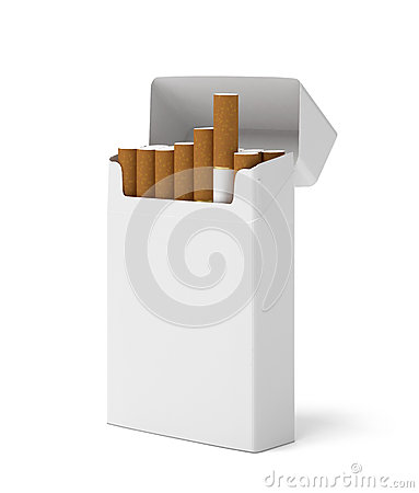 Blank pack of cigarettes
