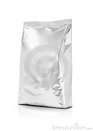 Free Blank Packaging Aluminum Foil Pouch Isolated On White Background Stock Photos - 74891693
