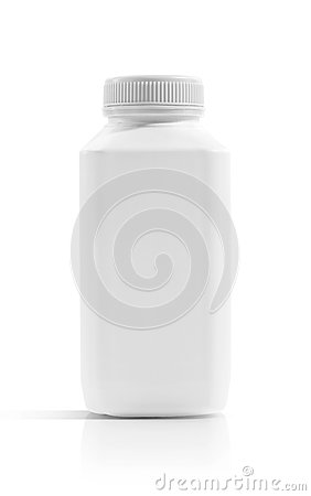 Free Blank Packaging Beverage Plastic Bottle Isolated On White Royalty Free Stock Photography - 90729867