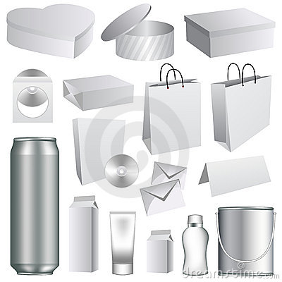 Blank packaging templates