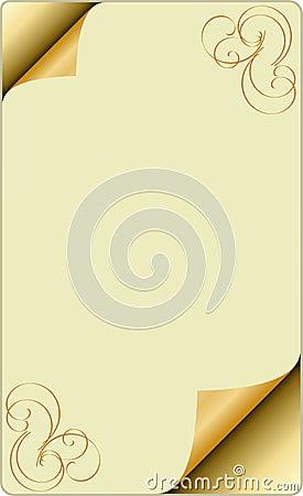 Blank page corner curl
