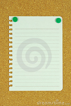 Free Blank Page Memo On Cork Board Stock Photography - 19660062