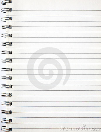 A blank page of an notebook.