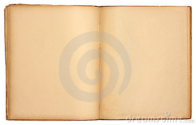 Blank Pages Old Open Book