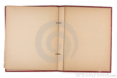 Blank Pages of an Old Scrap Book
