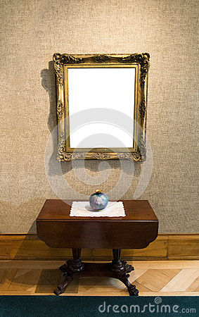 Blank Painting in Art Gallery