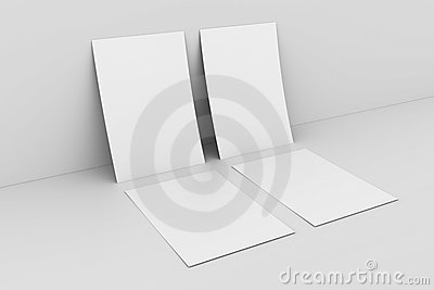Blank paper againstwhite wall