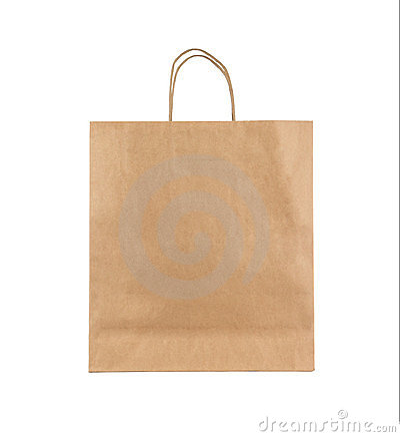 Free Blank Paper Bag Royalty Free Stock Photos - 24031188