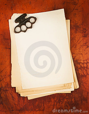 Blank paper with boxer weapon as background