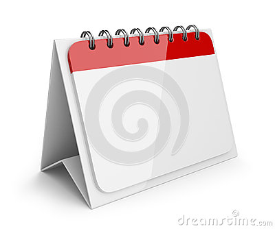 Blank paper calendar. 3D Icon