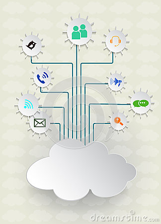 Blank paper cloud computing.Social networks.