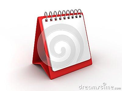 Blank paper desk calendar for office
