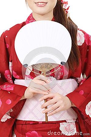 Blank paper fan