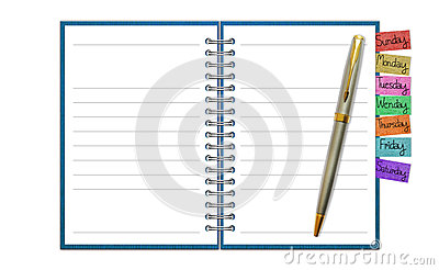 Blank Paper with Notebook