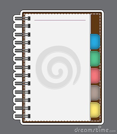 Blank Paper with Notebook Vector outline