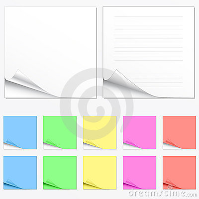 Free Blank Paper Pads In Different Colors Stock Photo - 4562110