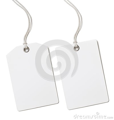 Free Blank Paper Price Or Gift Tag Set Isolated Royalty Free Stock Photography - 46387847