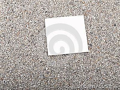 blank paper sheet,sand
