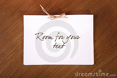 Blank Paper Sheets Tied With Rope Royalty Free Stock Photography - Image: 21473587