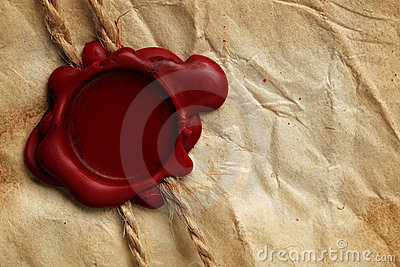Blank paper & wax seal