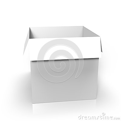 Blank paperbox for use as a template