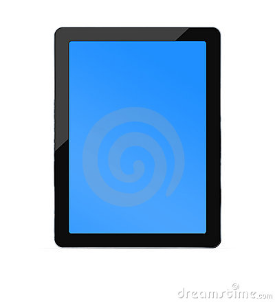 Blank PC tablet with two clipping paths