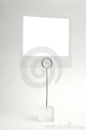 Blank photo frame clip
