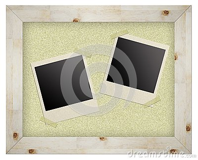 Blank Photo Frames On Cork Board Royalty Free Stock Photos - Image: 20069328