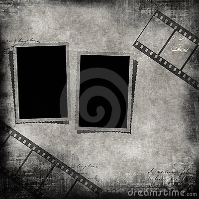 Blank photo frames and film strip