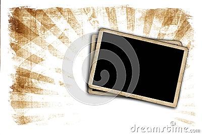 Blank photo frames on wall