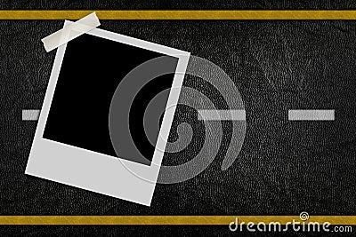 Blank photo on road pattern