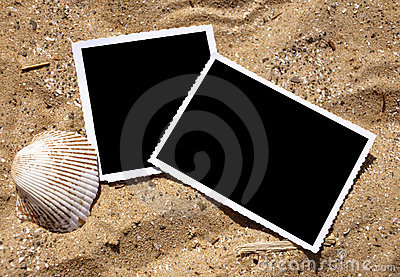 Blank Photograph Memory Pictures on Sand