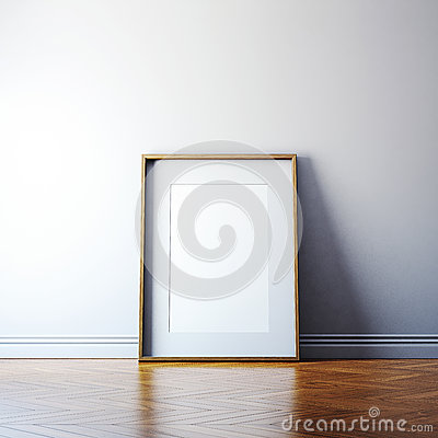Free Blank Picture Frame On A Wall Stock Photos - 44250273