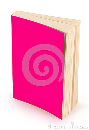 Blank pink book cover-clipping path