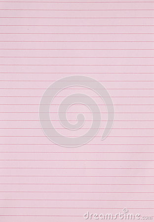 Blank Pink Lined Paper Background Or Textured Stock Photography