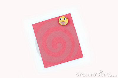 blank pink note with magnet