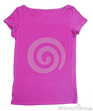 Blank pink tee-shirt
