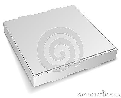Blank pizza box
