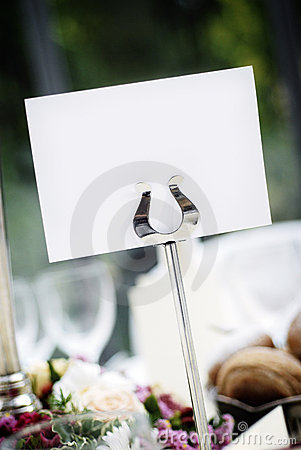 Blank Place Card