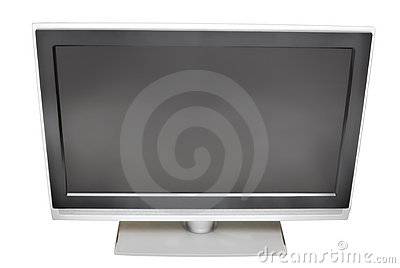 Blank plasma TV | Isolated