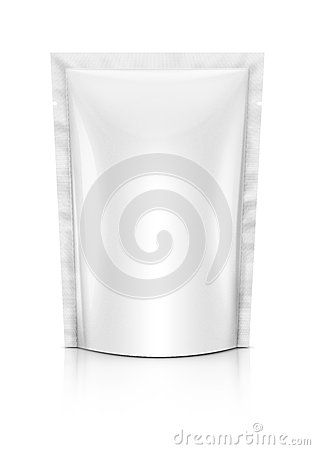 Free Blank Plastic Pouch Royalty Free Stock Photography - 50490697