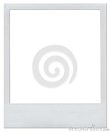Blank Polaroid frame