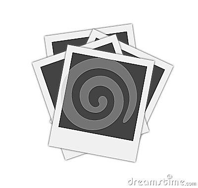 Blank polaroid frames
