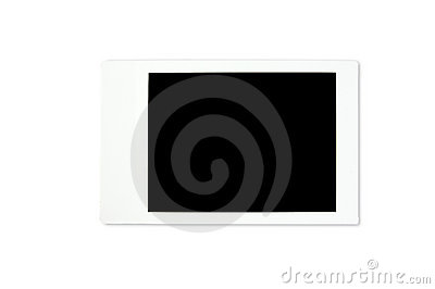 Blank polaroid photo frame
