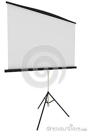 Blank portable projector screen